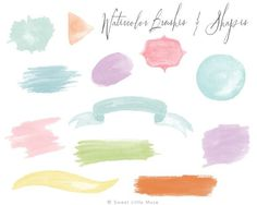 Watercolor brushes for Photoshop - Brushes