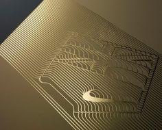 Nike_retailer_hospitality_4 #print #letterpress #nike #gold