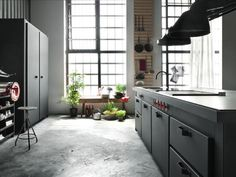 MinàKitchen — Minacciolo #interior #concrete #modern #design #black #kitchen #architecture