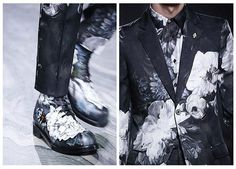 Alexander McQueen Hand Painted Floral Shoes #LCM #LCM201