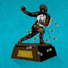 Brian Danaher ::: Illustration / Cam Newton for the Hesiman? #illustration #heisman