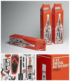FFFFOUND! | Graphic-ExchanGE - a selection of graphic projects #beverage #cardboard #packaging #drink #wine #box #vintage #package