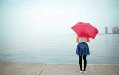 All sizes | Lake Michigan | Flickr - Photo Sharing! #umbrella #fog #girl