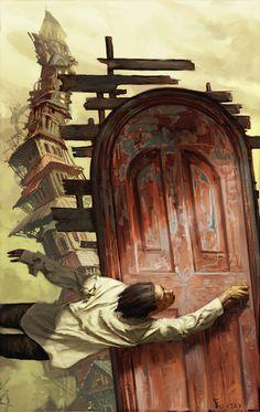 Art by Jon Foster #door #grip #digital #madness #illustration #art #painting