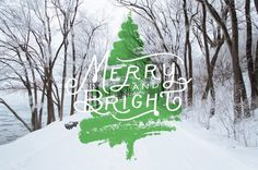 Merry Christmas - Jake Hart Art #tree #design #snow #christmas #photography #art #typography
