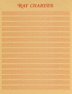Ray Charles' letterhead | Doobybrain.com #letterhead