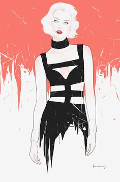 2014 IV on Behance #inspiration #model #woman #digital #illustration #art #fashion #floyd #drawing #female #grey