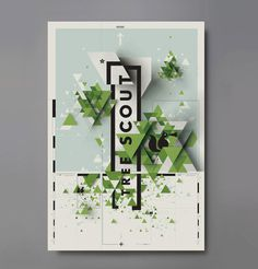 Tree Scout - Karnes Poster Co. #poster #tree #green