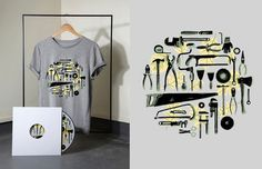 tool illustration #tools #hardware #shirt #saw #plyers #illustration