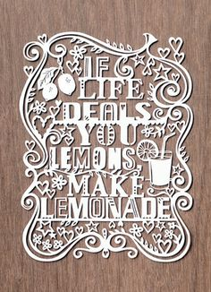 If Life Deals You Lemons, Make Lemonade Art Print by Julene Harrison Easyart.com #inspiration #words #quote #print #design #art #poster #artprint