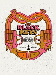 FFFFOUND! | BLACK KEYS -BROTHER LOVE PRETZEL GUN « Limited Edition Gig Posters « Methane Studios