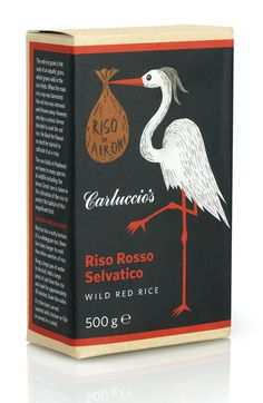 Carluccio's Riso Rosso Rice | Irving & Co #bird #illustration #package #rice