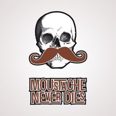 Moustache ne meurt jamais - Tatouage temporaire Bernard Forever #bernardforever #tatouage #tattoo #temporaire #moustache