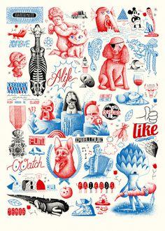 Patchworks : lesjeanclode #illustration #patchwork