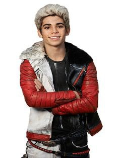 Cameron Boyce Looked Really Wonderful in the Awesome Leather Jacket inspired in Descendants 2015. #cameronboyce #descendants #descendants2015 #carlosjacket #redandwhitejacket #redwhiteblack #fashion #style #movie #love