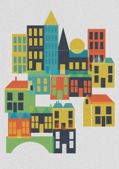 Toy Town Art Print by Alice Rebecca Potter | Society6 #print #nice #illustration #poster #art