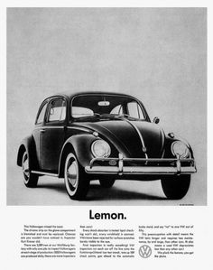 Swiss Cheese and Bullets — Classic. #lemon #advert #1960s #car
