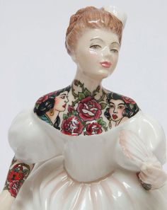 """Jessica Harrison """"Flash"""" @ LJ Gallery, Paris: 04.jpg #tattoo #ceramic #customised"""