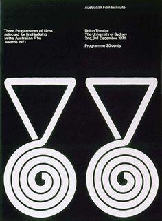 Item 175: AFI Programme cover / David Hornblow / 1971 « Recollection #white #hornblow #black #poster #1971 #afi #david #typography