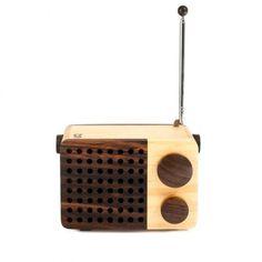 Magno Small Wooden Radio - Office + Storage #wood #technology #radio