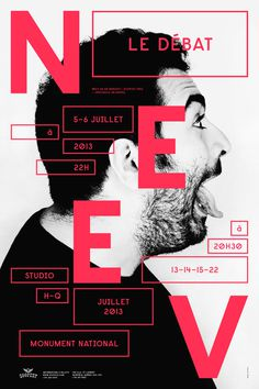 NEEV, THE ETERNAL DEBATE / POSTER SERIES on Behance #poster #montreal #zoofest #neev