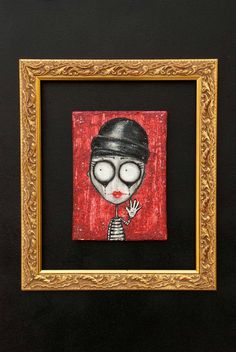 Circus on Behance #frame #red #circus #illustration #mime #art