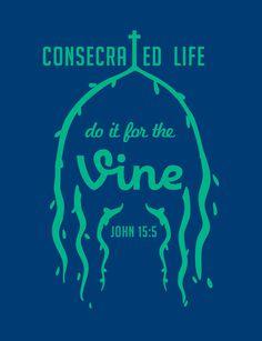 Graphic Design - St. Joseph's Camera #jesus #branches #consecrate #vine