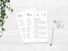 Alex Morrisons Resume - Free Minimal Word Resume Template with Matching Cover letter