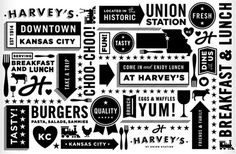 Harvey's | Tad Carpenter Creative #graphics #illustration #typography