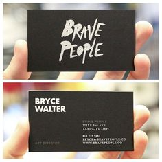 Brave People business cards by Mama's Sauce. http://bravepeople.co #print #branding #business cards #screen printing #mamas sauce #neenah pa