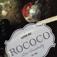 Art of the Menu #rococo #label