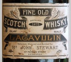 Lagavulin-1875-Label-78KB.jpg (JPEG Image, 849x746 pixels) #graphic design #package design #whiskey