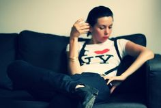 ★ Naim Sheriff : Creative Design ★ #girl #fashion #photography #couch #sitting #tomboy