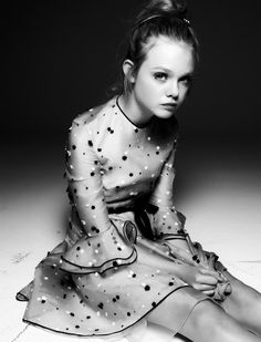 Elle Fanning - Page 3 - Interview Magazine #white #fanning #steven #pan #black #photography #and #elle