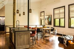 Modern farmhouse in the woods