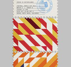 MAAN Design Studio - World Cup Stamps 2014 #stamp #stamps #world cup #branding #colours