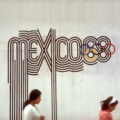Mexico Games Logo from 1968 #68 #mexico #olympics #lettering