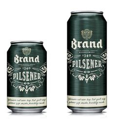 Brand Bier Cans #beer #packaging #can #label