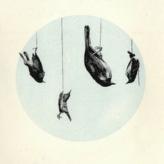 Untitled | Flickr - Photo Sharing! #circle #printmaking #birds #lithography