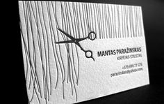 Letterpress business card for hair stylist | Elegante Press