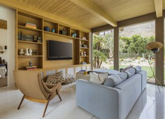 living room, Updating a Mid-Century Modern Residence Near Palm Springs