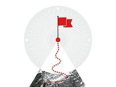Mountain #mountain #red #flag #trail #star