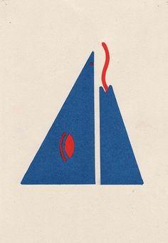 Penny Klein #risograph #man #mountain