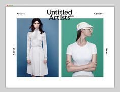 Untitled Artists #website #layout #design #web