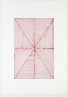 Red lines felt pen on paper 11.5 x 8.5 #lines