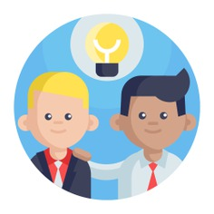 See more icon inspiration related to idea, think, team, teamwork, group, brainstorm, user, bulb, feature, coworkers, work team, creativity, strategy, creative, light bulb, networking and business on Flaticon.