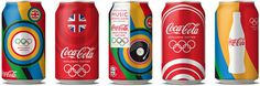 Coca Cola London Olympics 2012 The Dieline #packaging #illustration