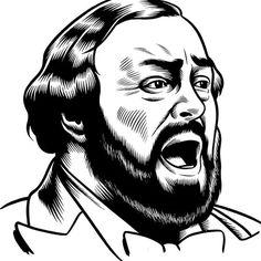 Pavarotti #illustration #charles burns