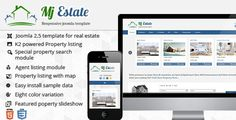 Mj Estate - Responsive Joomla Template #property #responsive #portfolio #design #listing #real #joomla #25 #template #blue #estate #web #green