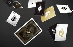 Two limited-edition decks of playing cards inspired by the magical and surreal world of Alice in Wonderland. #alice #playing #on #art #deco #wonderland #cards